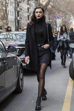 Tights with a designer logo are currently trending