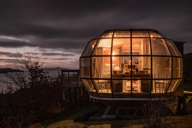 Spend the night in this Scottish spaceship with fantastic views