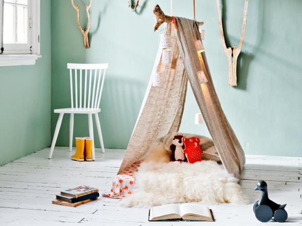 This way you create a nice reading space in the nursery